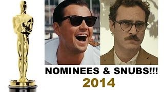 Repeat youtube video Oscars 2014 Nominations Today! Snubs! Predictions! Frontrunners!