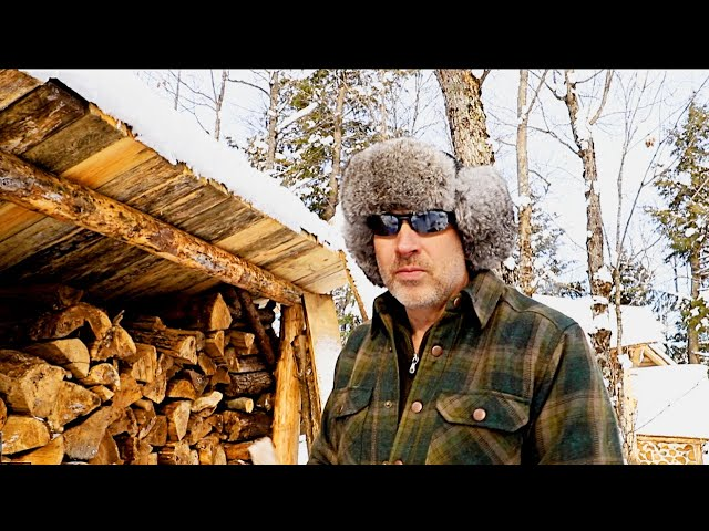 Leaning Right | OFF GRID Log Cabin Sauna Build Ep 10 | Canadian Wilderness