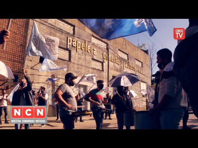 CINCO TV - La CGT Zona Norte acompaña a papeleros en su reclamo por falta de pagos