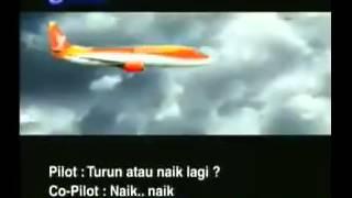 Detik Detik pesawat Adam Air Jatuh (Merinding Lihatnya)