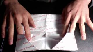 Awesome origami tyvek wallet: instructions