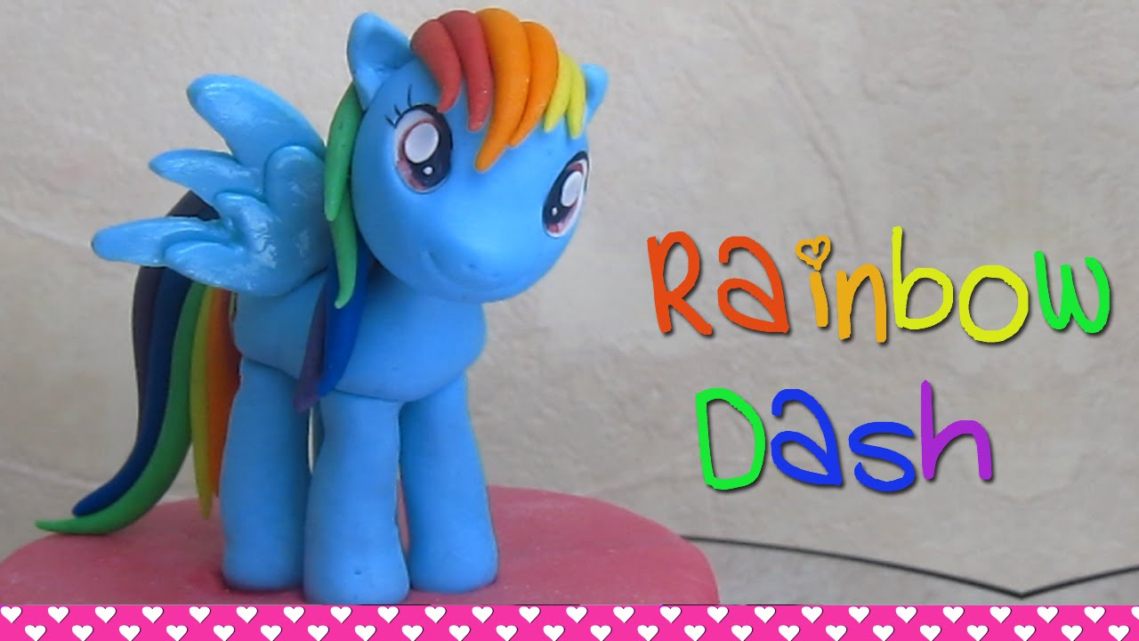 How To Make Rainbow Dash My Little Pony Cake Topper Figurine Out Of