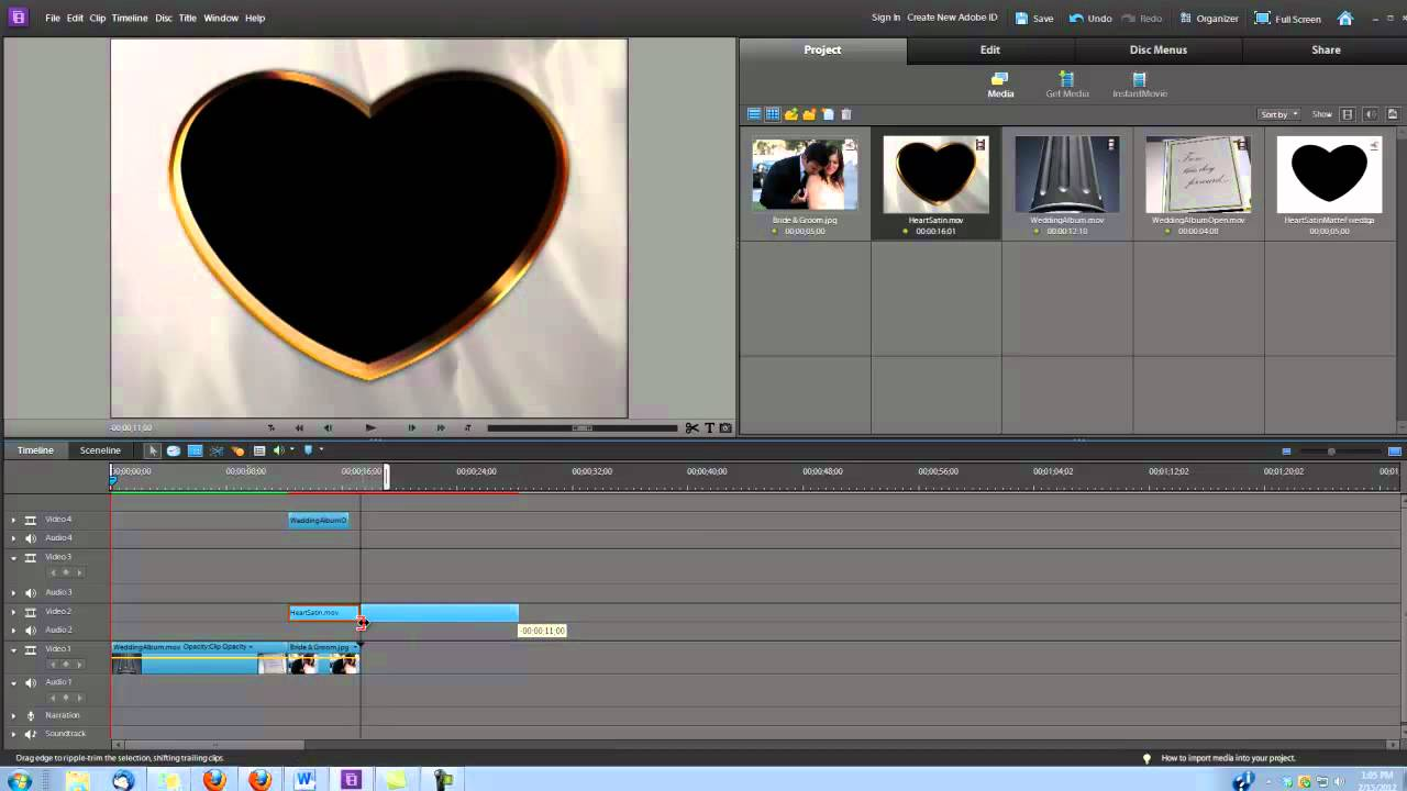 Premiere Elements How To Make A Wedding Video Intro Using Digital Hotcakes