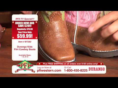 Lil' Durango Kids Rebel And Flirt Cowboy Boots