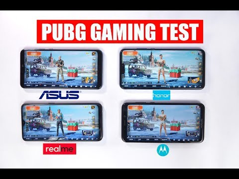 Asus Zenfone Max Pro M2 Vs Realme U1 Vs Honor 8X Vs Moto One Power - PUBG Gaming Test 🔥
