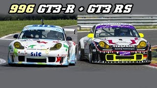 Porsche 996 GT3-R & RS - fly-by's and downshifts (Spa Classic 2018)