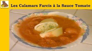 Les calamars farcis cuit dans la sauce tomate (recette facile) HD