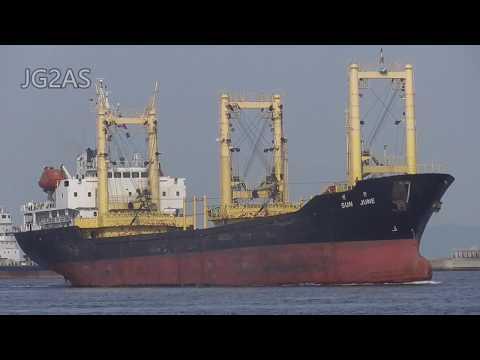 SUN JUNE 一般貨物船 General cargo ship 大阪港 2017-MAY