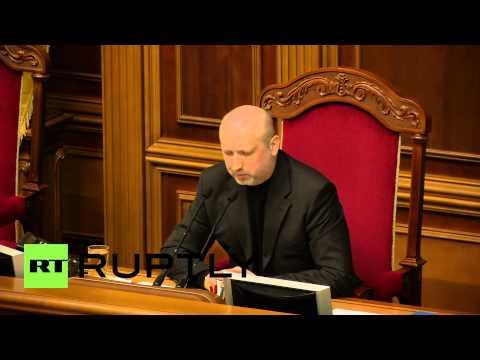 "Ukraine: Turchynov warns Russia against ""armed aggression"""