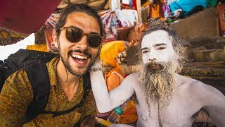 Interviewing SADHUS in India
