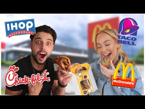 Only Eating AMERICAN FAST FOOD For 24 Hours! *FOOD CHALLENGE*