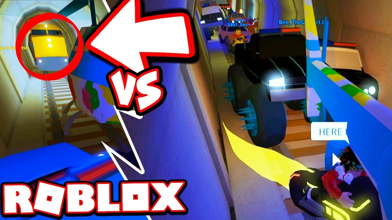 Hackers Try To Stop Our Uber Roblox Jailbreak - Can 20 Vehicles Stop The Jailbreak Train Roblox Jailbreak