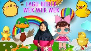 Download BEBEK WEK WEK   LAGU ANAK INDONESIA   BEBEK LUCU BERENANG
