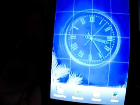 Snow Clock Live Wallpaper - часы, живые обои с падающими снежинками