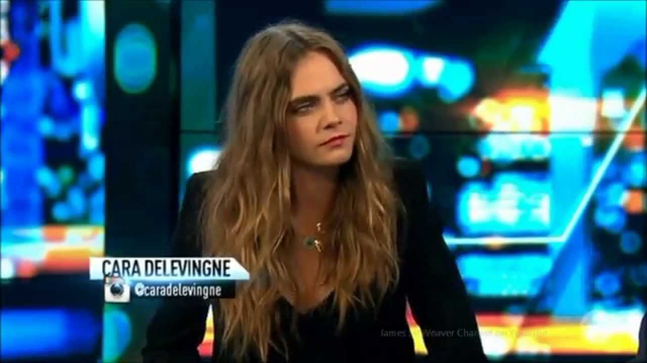delevingne  paper towns fearless acting  eyebrows australian tv interview youtube