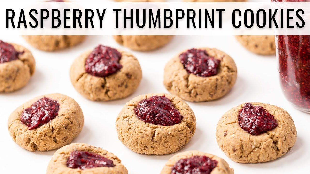 RASPBERRY THUMBPRINT COOKIES | with homemade jam 🎄 # ...