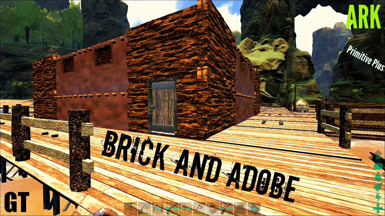 Brick and adobe building primitive plus part 5 ark survival evolved youtube - How to build an adobe house ...