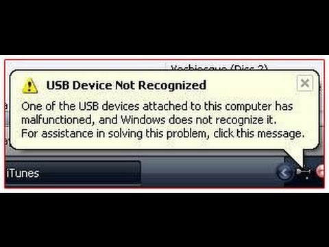How To Fix an Unrecognized USB Drive Error
