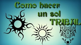 Como dibujar un sol TRIBAL / like drawing a tribal sun (MAICOL DRAWING)