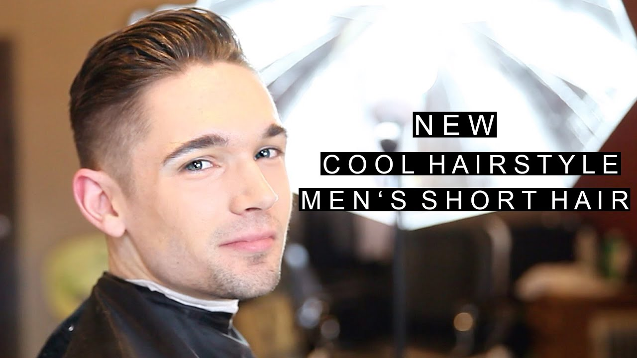cool new hairstyle | men's short haircut 2016 | modern crew cut