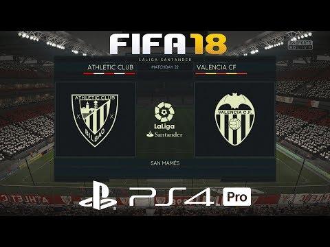 FIFA 18 (PS4 Pro) Athletic Bilbao v Valencia | LA LIGA PREDICTION | 28/2/2018 | 1080P 60FPS