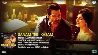 Sanam Teri Kasam  Title Song    Full Audio   Harshvardhan  Mawra   Himesh Reshammiya  Ankit Tiwari