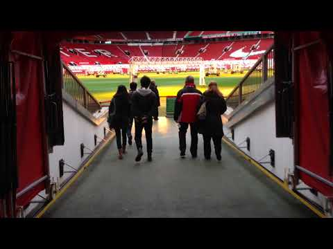 Walking Out of the Tunnel at Old Trafford - Manchester United Stadium Tour