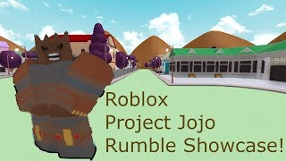 Roblox Project Jojo Rumble Showcase!