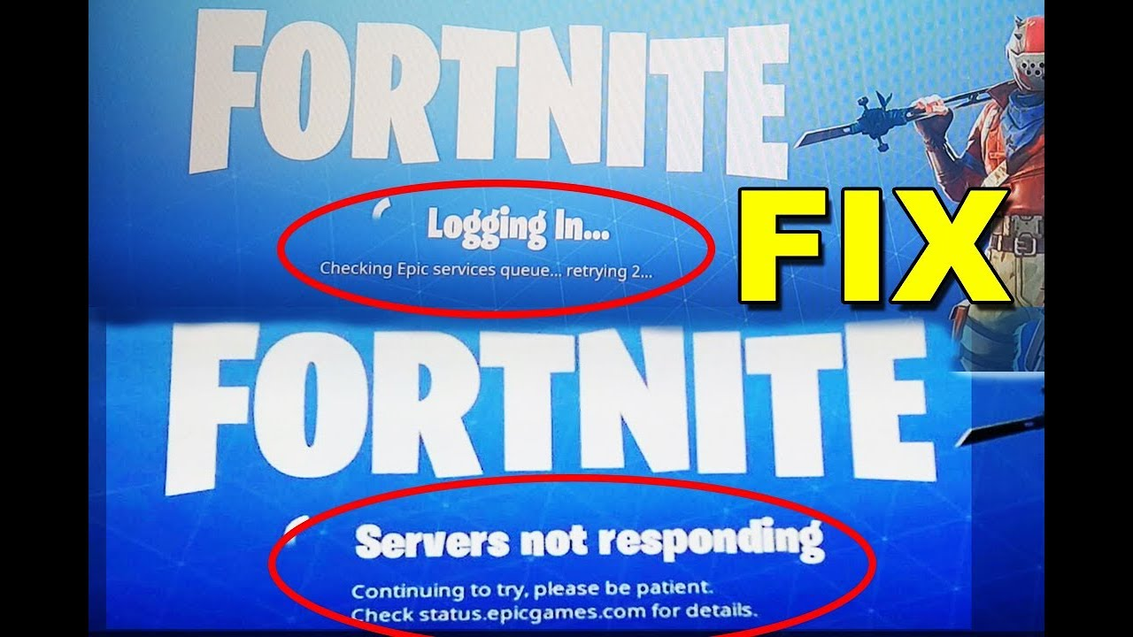how to fix login failed servers not responding logout error fortnite battle royale - fortnite logging in forever