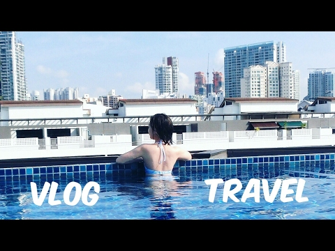 TRAVEL VLOG | 💖SINGAPORE LOVE//FOODIE//HOT day MAKEUP ROUTINE