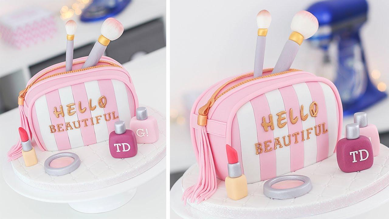 How to Make a Makeup Bag Cake   Tan Dulce