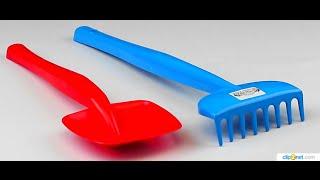 Обзор - распаковка игрушек Песочный набор - лопата и грабли средние WADER Арт: 39026