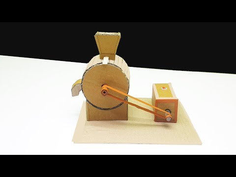 How To Make Mini Flour mill with cardboard In Your Home  DIY  Mini Flour mill Machine