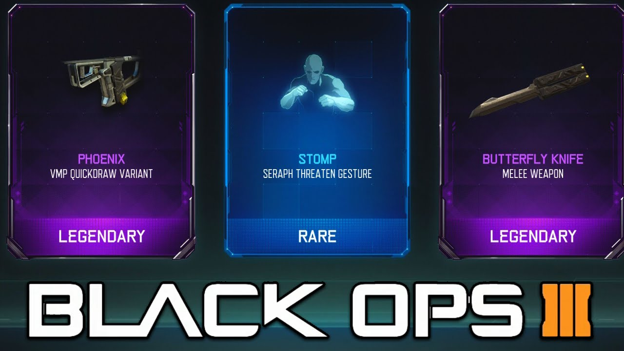 Call Of Duty Black Ops 3 Epic Butterfly Knife Opening Rare Supply Drop Opening 10 Youtube