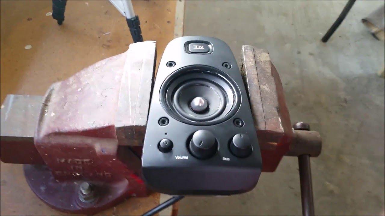 Smashing And Blowing Logitech Z-623 Satellite Speaker