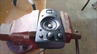 Smashing and Blowing Logitech Z-623 Satellite Speaker!
