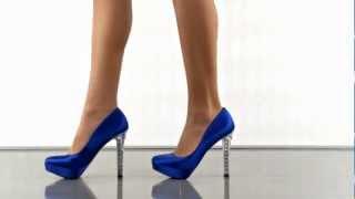 Jackie in Royal Blue Satin Paris Hilton