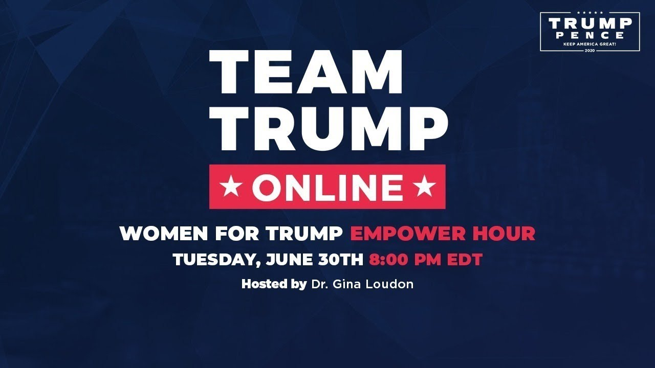 Women for Trump Empower Hour with Dr. Gina Loudon, Chairwoman Ronna McDaniel, & AG Pam Bondi!
