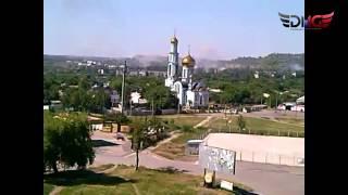 Обстрел поселка Комарова,  Курганка. Горловка 8 июня 2015 года.