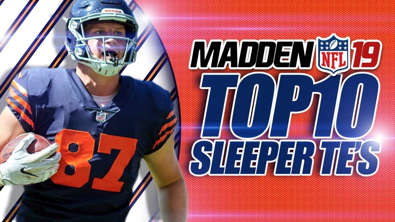 madden 19 franchise top 10 sleeper tight ends youtube. Black Bedroom Furniture Sets. Home Design Ideas