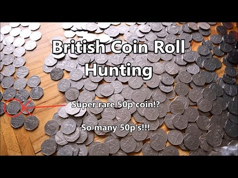 Coinroll Hunting for Rare British 50p coins - £250 in 50p's!