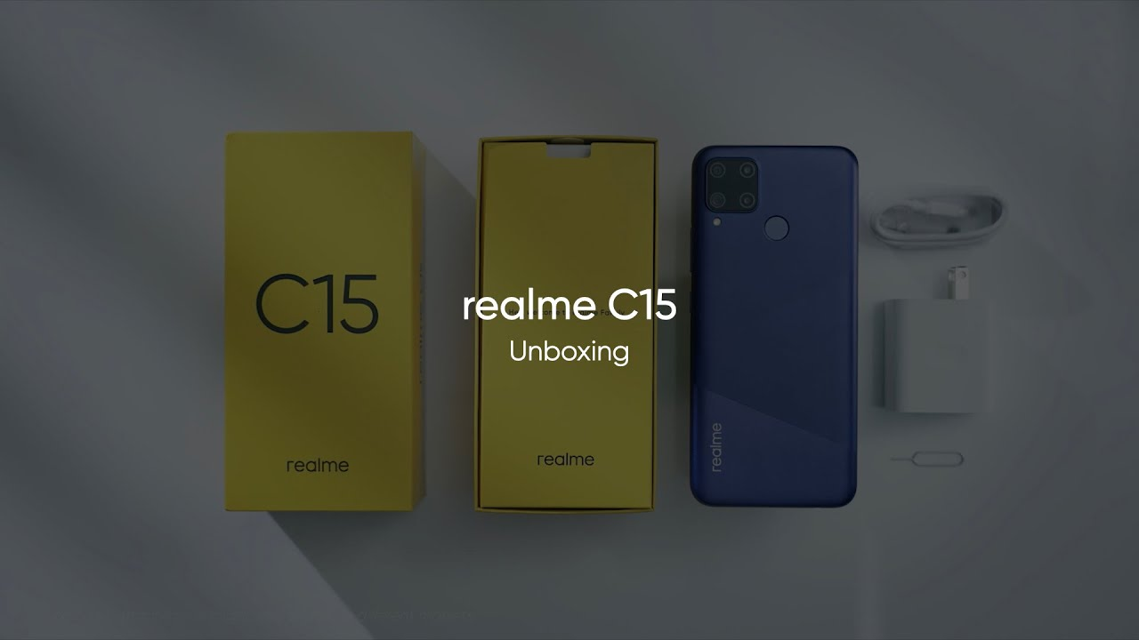 realme C15 Unboxing | 6000mAh with 18W Quick Charge