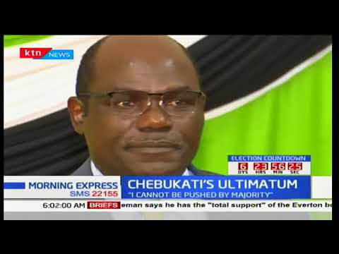 IEBC Chair Wafula Chebukati says he cannot guarantee credible elections