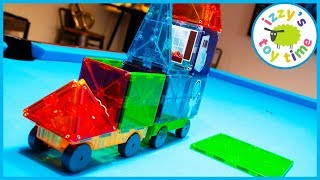 MAGNA TILES! Learning and Playing with Toy Cars for Kids and LEGO!
