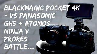 Blackmagic Pocket Cinema Camera 4k Prores vs Panasonic GH5 Prores on the Atomos Ninja V