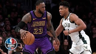 Giannis, Eric Bledsoe lead Bucks to playoff-clinching win vs. LeBron, Lakers | NBA Highlights