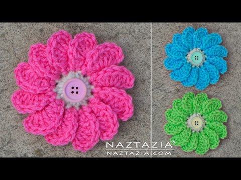 DIY Tutorial – Learn How to Crochet Flowing Flower – Flowers with Petals