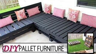 Project: DIY Pallet Furniture - How I Created My Patio Sectional Duration: 1 weekend Items and Supplies Purchased: This post