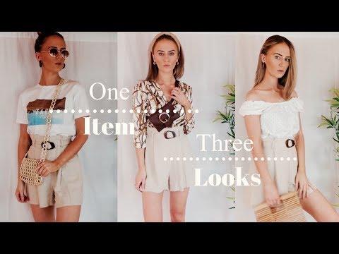 1 Item 3 looks | Paper Bag Shorts