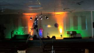 Stage lighting setup